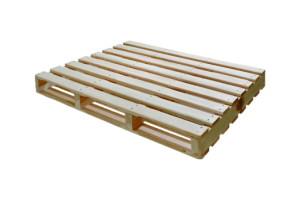 Pallet - 2 entradas - dupla face reversível 4 longarinas - abauladas no comprimento